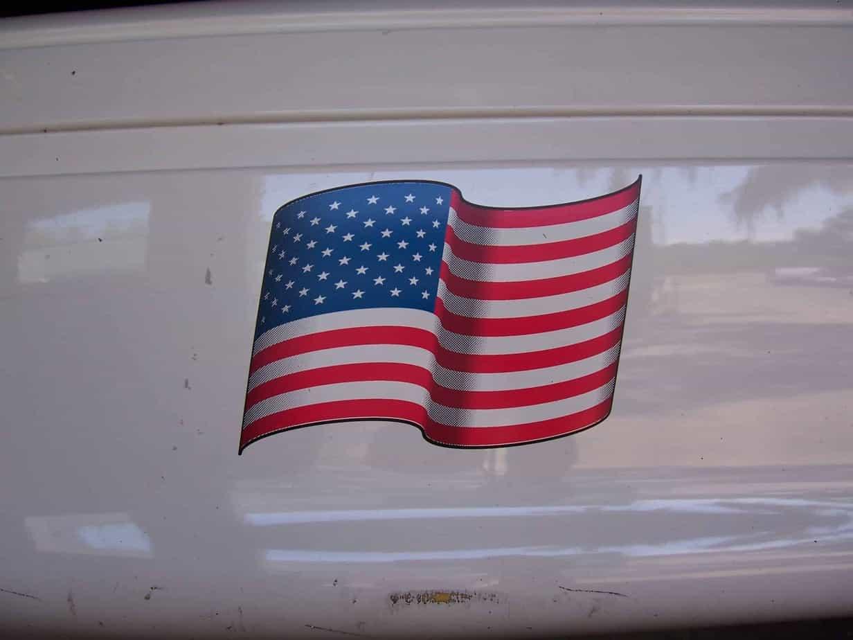 USA Flag Decal
